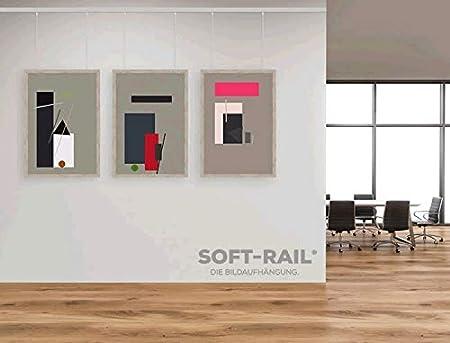 /Ø 1,5 mm Perlonseile 0,50 m f/ür Galerieschienen mit Schlaufe SOFT-RAIL/® 10 St