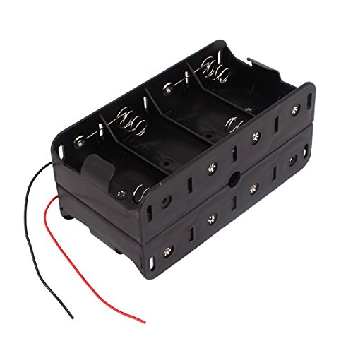 (1.5V D Size Battery Box - TOOGOO(R) Dual Wires Double Sides Storage Case Box for 8 x 1.5V D Size Battery)