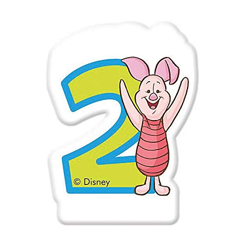 Procos 82914–Winnie the Pooh Candle Numeral Number 2, Multi-Colour - Birthday Cake Pooh Bear