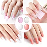 4 Colors Poly Nail Gel set with 36W LED Nail Lamp