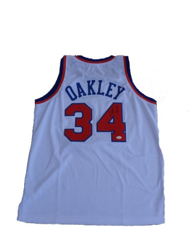 buy online a2c89 45244 Charles Oakley Signed New York Knicks Jersey JSA at Amazon's ...