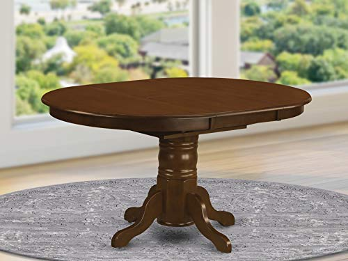 "Oval a Pedestal Oval Dining Table 42""x60"" with 18"" Butterfly Leaf"