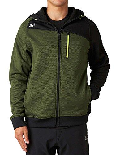 Fox 2014/15 Men's Thermabond Resist Front Zip Fleece Hoody - 10499 (Fatigue Green - 2XL)