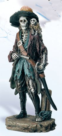 Pirate Skeleton Figurine (Skeleton Pirate Captain Nautical Figurine)
