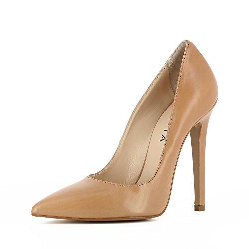 Evita Shoes Lisa - Zapatos de vestir de Piel para mujer Beige