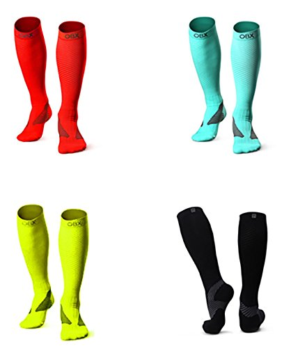 OBX Compression Socks for Men & Women-Professional Fit for Ruining&Racing-Knee High Socks for Athletics,Marathon,Travel,Shin Splints,hiking&Outdoor sports-Best for Muscle Recovery(1 pair) by OBX (Image #5)