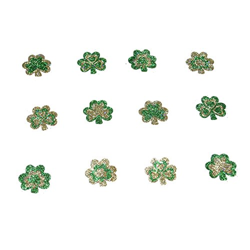 Glitter Shamrock Tattoo Stickers Pack of 12