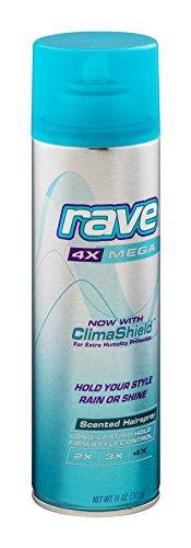 Rave Hs 4x Mega Unscnted Size 11z Rave Hs 4x Mega Unscnted Areo 11z, 6 Pack -