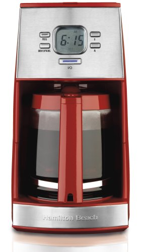 Hamilton Beach 43253 Ensemble 12-Cup Coffeemaker with Glass Carafe, Red (Hamilton Beach Can Opener Red compare prices)