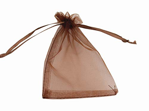 (8 x 12 Inch 100 Drawstring Bags Gold Silver Fabric Jewelry Gift Pouch Candy Pouch Wedding Favors (Coffee))
