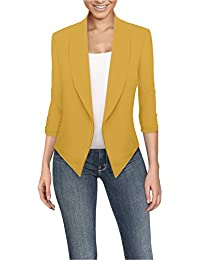 Amazon.com: Yellow - Blazers / Suiting & Blazers: Clothing, Shoes ...