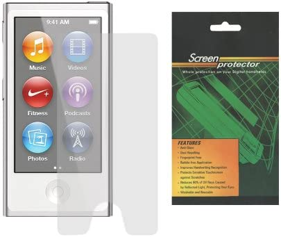 Pink Soft Silicone Skin Cover Case and Anti-Glare Matte Screen Protector for Apple iPod Nano 7th Generation iShoppingdeals