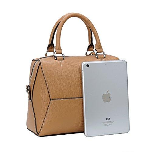 Khaki Heshe Bags Womens Bag Handle Bag Designer Crossbody Top Tote Bag Handbags Leather Purses Ladies Shoulder f4qfF