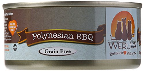 Weruva Classic Cat Food, Polynesian BBQ with Grilled Red Bigeye in Aspic, 5.5oz Can (Pack of 24) Cat Eye Bar End
