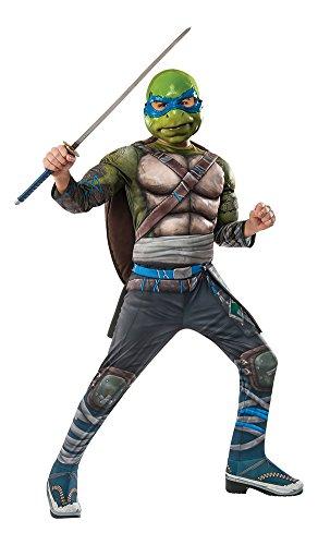 Mask At Party City (Rubie's Costume Kids Teenage Mutant Ninja Turtles 2 Deluxe Leonardo Costume, Large)