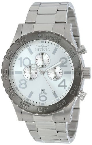 Invicta Men's 15160 Specialty Chronograph Silver Tone Dial Stainless Steel Watch ()