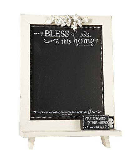 (Faithworks Chalkboard Messages Wall Art/Tabletop Plaque, Bless This Home, 12 x 18,)