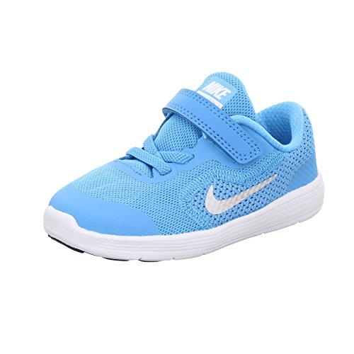 Nike Revolution 3 (TDV) 819415 406 Jungen Lauflernstiefel Kaltfutter Lagune