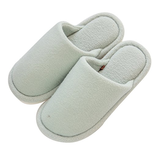 For Anti Slip Womens Green Indoor mianshe Comfort Home Mens Cotton Lightweight Shoes Knitted Slippers House XIwAgP1