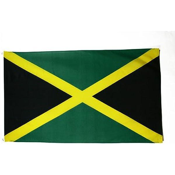 Amazon Com Az Flag Jamaica Flag 5 X 8 Jamaican Big Flags 150 X 250 Cm Banner 5x8 Ft Garden Outdoor
