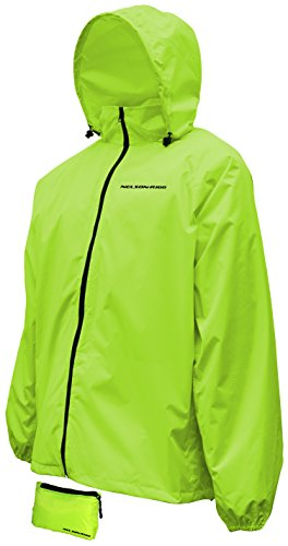 Nelson Rigg Unisex-Adult Waterproof Compact Pack Jacket (Hi Visibility (Visibility Windbreaker)