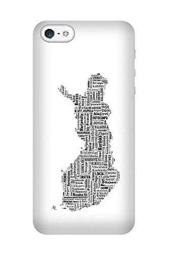 iPhone 4/4S Coque photo - Finlande Carte Noire