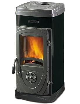 Estufa de leña Nordica bruciatutto mod.Super Júnior versión 5 kW Negro 64 kg: Amazon.es: Hogar