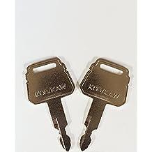 Keyman Kobelco-Kawasaki Equipment Key-2 Ignition keys-1 pair for Case, Kawasaki, Yutani, New Holland, Kobelco, Part Number K250