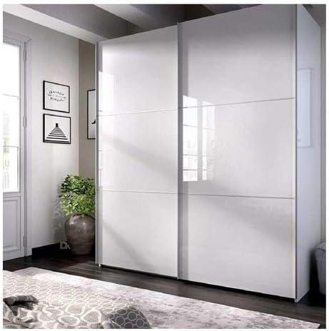 HABITMOBEL Armario Dormitorio Blanco 204 Puertas correderas, Fondo Especial DE 65cm (Cajoneras Incluidas): Amazon.es: Hogar