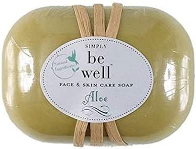 aloe facs & skin care soap natural ingredients no artificail colors paraben and gluten free