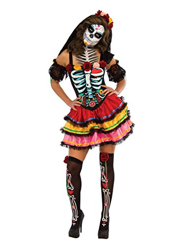 Rubie's Women's Day Of The Dead Senorita Costume, Multicolor, Large -