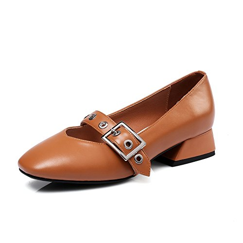 AN Womens Toggle Non-Marking Cold Lining Urethane Sandals DIU00853 Brown VYqVGJR40