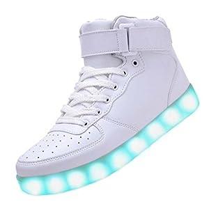 00504f9231bc Littlepanda Men Women High Top USB Charging LED Shoes Flashing Sneakers