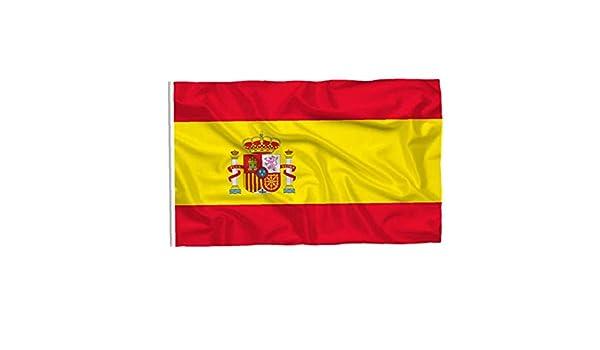 Pulgadas 35.4x59 Gran Gran Bandera de España Impreso España Bandera Nacional de la Bandera de poliéster con Ojales de Cobre Amarillo: Amazon.es: Hogar