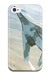 Flexible Tpu Back Case Cover For Iphone 4/4s - Aircraft8