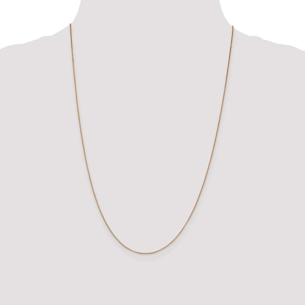 14k Box With Necklace in Rose Gold White Gold Yellow Gold Choice of Lengths 16 18 20 22 24 30 and Variety of mm Options