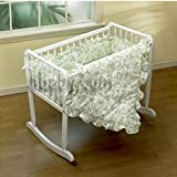 Green Toile Cradle Bedding - Size 18x36