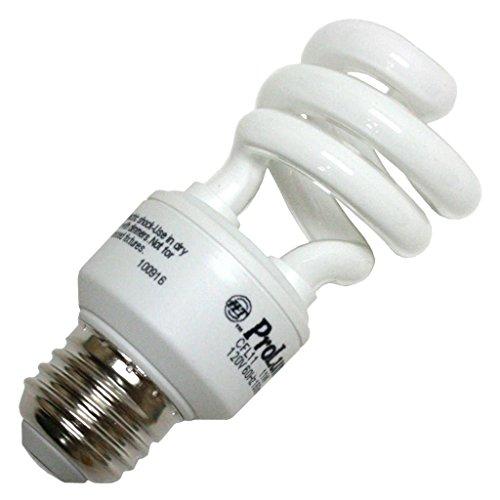 Halco #109240 CFL11/27/MED 11 watt Self-Ballasted Spiral Compact Fluorescent Lamp, Medium (E26) base, 2700K, 700 lumens, 12,000hr life, 120 volt, Non-dimmable (11w Spiral)