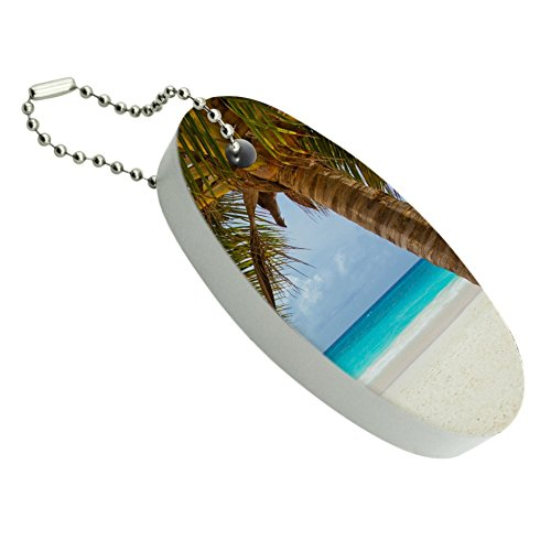 Tropical Palm Tree Ocean Beach Floating Foam Keychain Fishing Boat Buoy Key Float (Key Tag Floating)