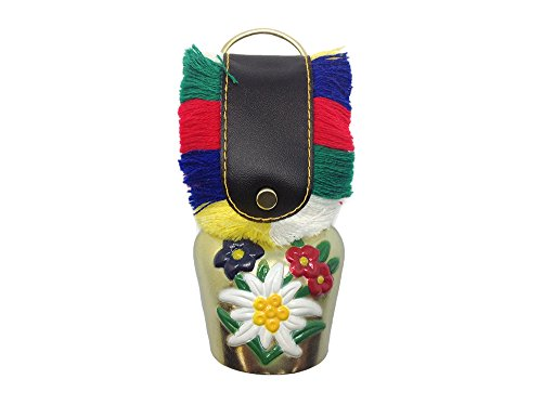 (Essence of Europe Gifts E.H.G Oktoberfest Party Idea Edelweiss Bell (1.75