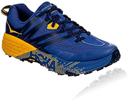 HOKA ONE One Speedgoat 3 Deportivas Hombres Azul/Oro - 42 - Running/Trail: Amazon.es: Zapatos y complementos