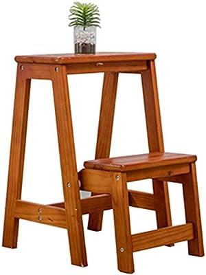 STOOL Escalera de mano Inicio Taburetes de escalera, Taburete de pie Pequeños taburetes de pie Escalera Asientos de silla Escalera de madera Escalada de doble uso Ampliado Multifunción Zapato de segu: Amazon.es: