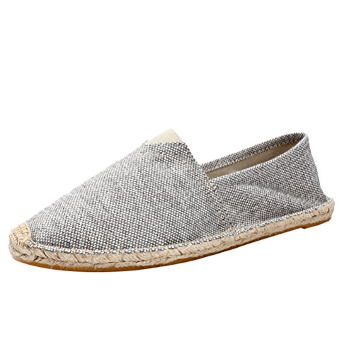 Vogstyle Unisex Adulto Zapato Flats Ballerinas Slip-On Zapatos de Lona Art 13-1 Grau