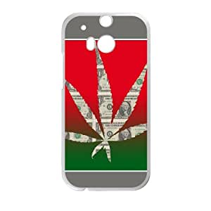 Exquisite stylish phone protection shell HTC One M8 Cell phone case for Marijuana Leaf Cannabis grass rasta pattern personality design