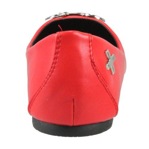 sintético rojo U de T material rojo para Bailarinas mujer K xqXw8wRd4