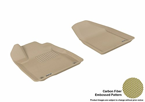 3D MAXpider L1AC00011502 Front Row Custom Fit All-Weather Kagu Series Floor Mats in Tan for Select Acura - Tan Mat Floor Acura