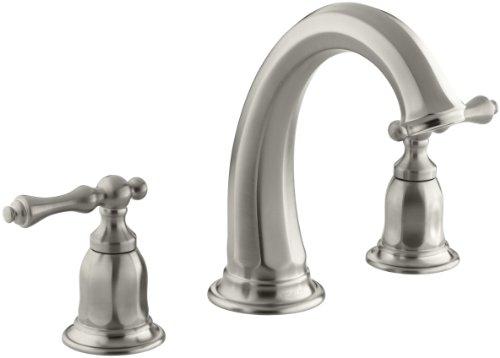 KOHLER K-T13494-4-BN Kelston Deck-Mount Bath Faucet Trim, Vibrant Brushed Nickel - Distressed Nickel Tub