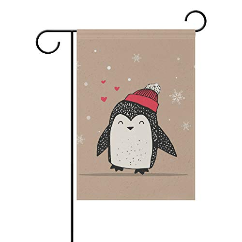 Chic Houses Pretty Penguin Watercolor Painting Outdoor Garden Flags Cute Animal Cartoon Fresh Style Funny Vertical Double Sided Home Decorative House Yard Sign 12 x 18 Inch 2030779