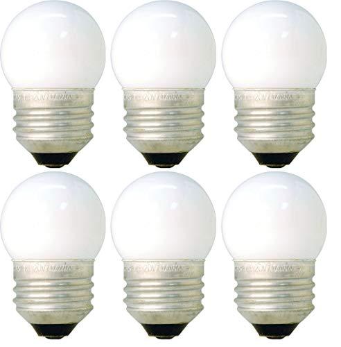 (6 Pack of 7.5-Watt S11 Sign Indicator 7.5S11 Medium (E26) Base White Incandescent Light Bulb)