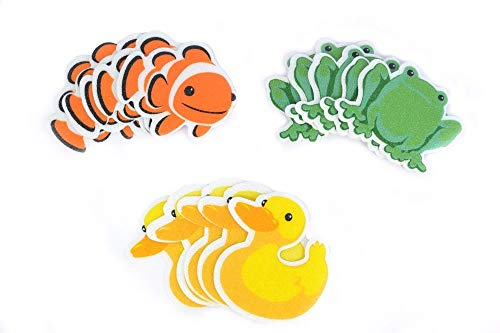 Bath Tub Shower Stickers Combo Pack - Nemo Decals Treads Non-Slip Applique Mat by Unknown
